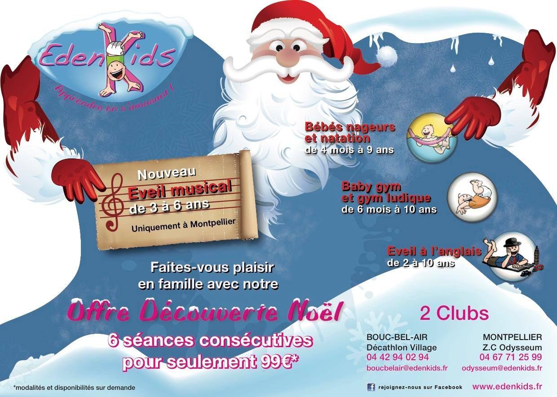 Offre Découverte Noël Chez Edenkids Club Dactivités Pour Enfants